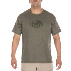 T-Shirt Stronghold tee Military green heather 5.11 Tactical