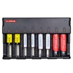 Chargeur Klarus C8 pour 8 batteries Li-ion ,Ni-MH et Ni-Cd